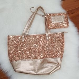 🆕️ Nine West Sequins Hand Bag with Wristlet